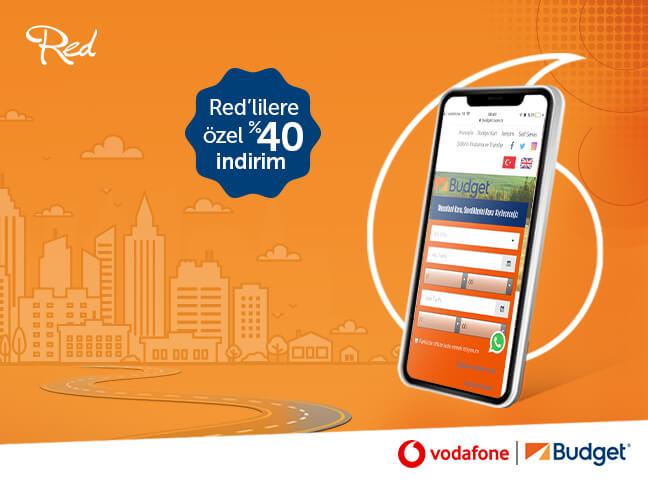Vodafone Red'liler Araç Kiralamalarında Budget'ı Tercih Ediyor!