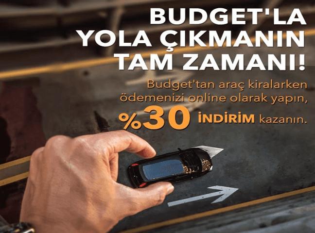 Budget'te Online Ödeme'de %30 İndirim!